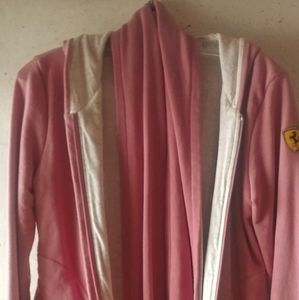 Puma dusty pink zip hoodie with matching scarf